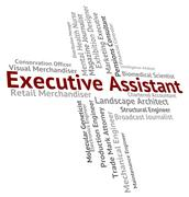 Executive Assistant Indicates Senior Manager And Aide Piirros