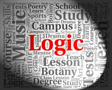 Logic Word Shows Common Sense And Logically Stock Illustration