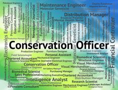 Conservation Officer Means Go Green And Administrator Stock Illustration