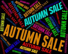 Stock Illustration of Autumn Sale Means Bargains Retail And Seasonal