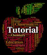 Tutorial Word Represents Online Tutorials And Develop Stock Illustration