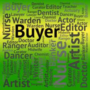 Buyer Job Means Recruitment Purchaser And Jobs Stock Illustration