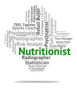 Nutritionist Job Represents Employee Nutrient And Sustenance Stock Illustration