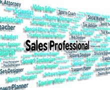 Sales Professional Shows Expertise Selling And Promotion Stock Illustration