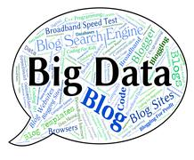 Big Data Indicates Huge Text And Large Piirros