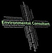 Environmental Consultant Indicates Work Authority And Environmentally - stock illustration
