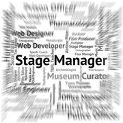 Stage Manager Represents Live Event And Broadway Stock Illustration
