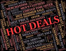 Hot Deals Means Number One And Agreement Stock Illustration