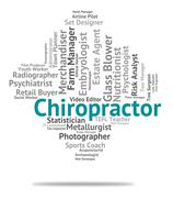 Chiropractor Job Means Chiropractics Jobs And Word - stock illustration
