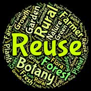 Reuse Word Shows Go Green And Recycled Stock Illustration