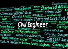 Civil Engineer Means Hire Government And Recruitment Stock Illustration