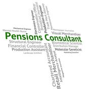 Pensions Consultant Represents Occupation Welfare And Employee - stock illustration