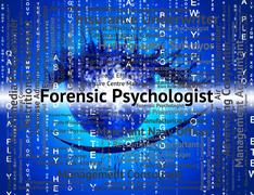 Forensic Psychologist Means Words Psychoanalyst And Text - stock illustration