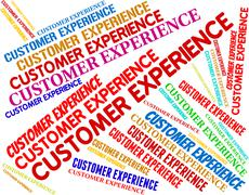 Customer Experience Represents Know How And Buyers Stock Illustration