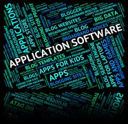Application Software Indicates Words Text And Softwares Stock Illustration