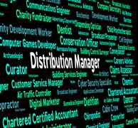 Distribution Manager Means Supply Chain And Boss Stock Illustration