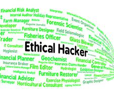 Ethical Hacker Indicates Contract Out And Attack Stock Illustration