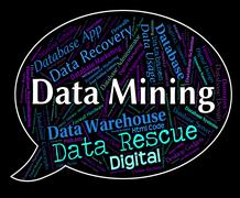 Data Mining Indicates Facts Mined And Fact Stock Illustration