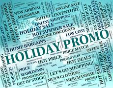 Stock Illustration of Holiday Promo Means Go On Leave And Cheap