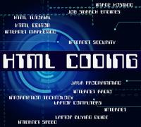 Stock Illustration of Html Coding Represents Hypertext Markup Language And Cipher