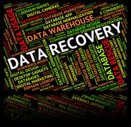 Data Recovery Shows Getting Back And Bytes Stock Illustration