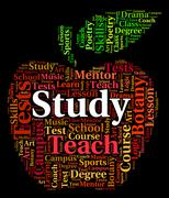 Study Word Shows Learn Training And Develop - stock illustration