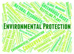 Environmental Protection Indicates Earth Day And Conserve Stock Illustration