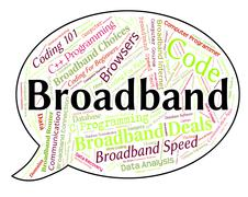 Broadband Word Represents World Wide Web And Communication - stock illustration