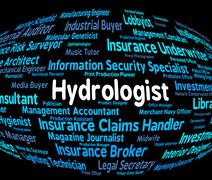 Stock Illustration of Hydrologist Job Indicates Career Word And Study