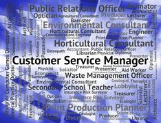 Stock Illustration of Customer Service Manager Indicates Help Desk And Assistance