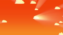 Cartoon animation of clouds Stock Footage