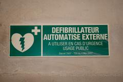 Sign of an emergency, defibrillator, green one Kuvituskuvat