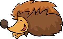 Hedgehog animal cartoon illustration Stock Illustration