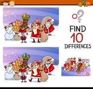 differences for preschool children - stock illustration