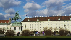 Hero Square with Hofburg Palace Stock Footage
