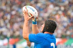 ROME, ITALY - NOVEMBER 18 2006. Rugby test match Italy-Argentina. Carlo Festu - stock photo