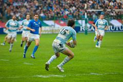 ROME, ITALY - NOVEMBER 18 2006. Rugby test match Italy-Argentina. Argentinian Stock Photos