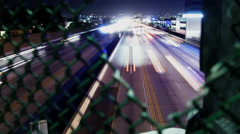4K Freeway Traffic Time Lapse 42 West LA 405 Freeway Tilt Up Stock Footage