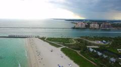 South Pointe Park Miami Beach Stock Footage
