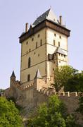Big Tower - Karlstejn castle - stock photo