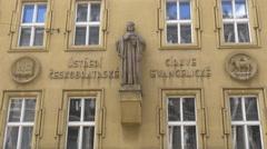 Czech Evangelical Church on Jungmannova Street in Prague Stock Footage