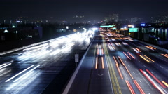 4K Freeway Traffic Time Lapse 45 West LA 405 Freeway Loop Stock Footage