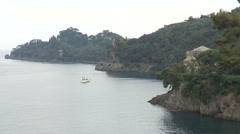 View of a villa on the promontory of Portofino - stock footage