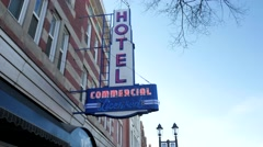 Commercial Hotel and Princess Theater on Whyte Avenue in Edmonton, Alberta Stock Footage