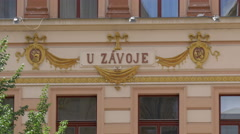 U Závoje ornate building in Prague Stock Footage