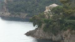 Villa on the cliff - stock footage