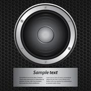 Invite with speaker and sample text Stock Illustration