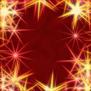 Stock Illustration of yellow stars over red background