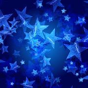 Stock Illustration of blue stars