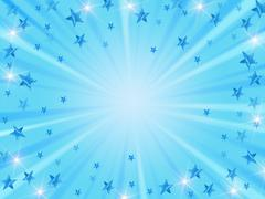 Christmas background radiate in blue - stock illustration